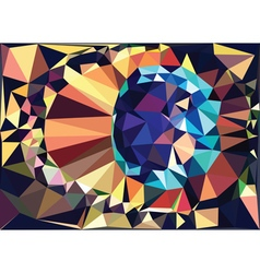 Colorful Geometric Abstraction3 vector image