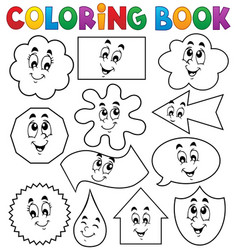 Coloring book various shapes 2 vector