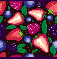 colourful forest berries vector image