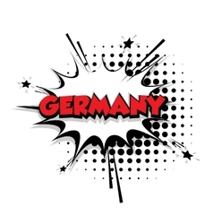 Comic text Germany sound effects pop art vector