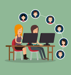 community social media people vector image
