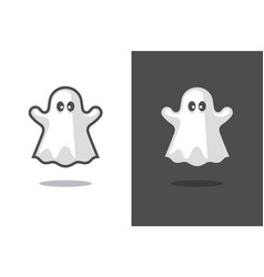 Cute ghost icon vector
