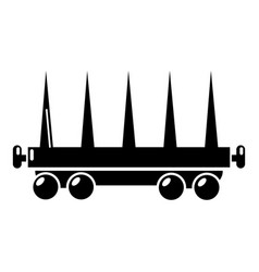 delivery wagon icon simple style vector image