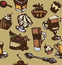 Dessert background RGB vector image
