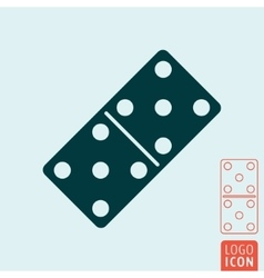 Domino bone icon vector