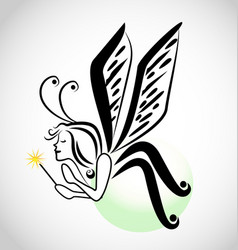 fairy cartoon vector image
