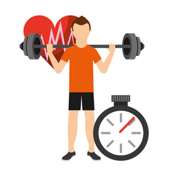 Fitness aerobic strength and body shaping vector