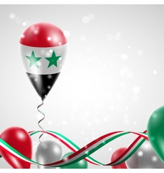 Flag of Syria on balloon vector