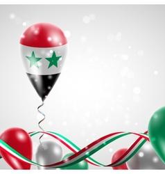 Flag syria on balloon vector