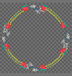 flat botanical wreath vector image