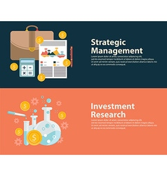Flat style business success strategy target vector
