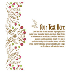 Floral ornament template for invitation or vector