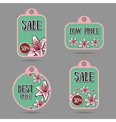 FloralLabels vector image