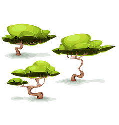 Funny weird trees for fantasy scenics vector
