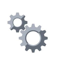 Gears Settings symbol vector