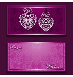 Greeting card with nice ornament vector image
