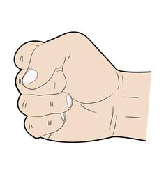 Hand fist vector