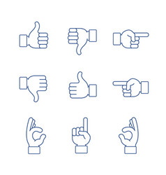 hands icon set vector image