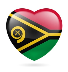 Heart icon of Vanuatu vector image