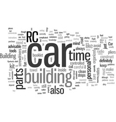 How to build a rc car vector