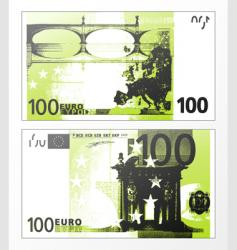 hundred Euro grunge trace vector image