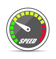 icon speedometer with shadow vector image