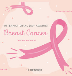 international day against breast cancer card vector image
