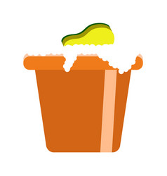 isolated bucket icon vector image
