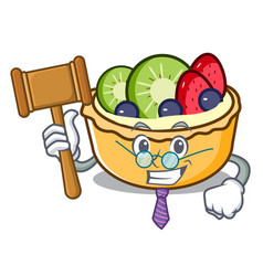 judge fruit tart mascot cartoon vector image