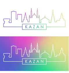 Kazan skyline colorful linear style editable vector