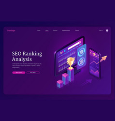 landing page seo ranking analysis vector image