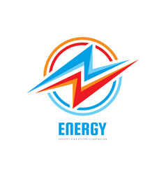 Lightning - business logo template concept vector