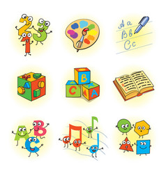 Logic games for kids vector