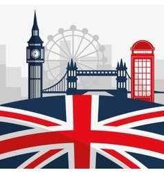 London landmarks design vector image