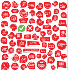 modern badges and labels collection 4 vector image