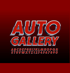 Modern banner auto gallery with font vector