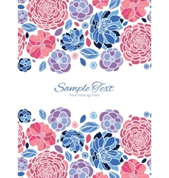 Mosaic flowers vertical double borders vector