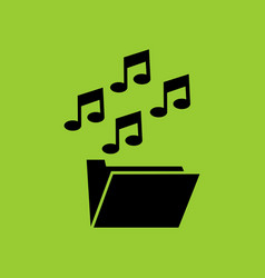 Music and media folder thumbnail in lc monitor pc vector
