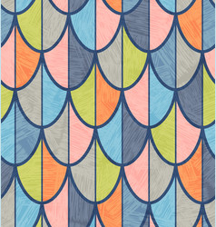 overlapping fish scales or feathers pattern vector image