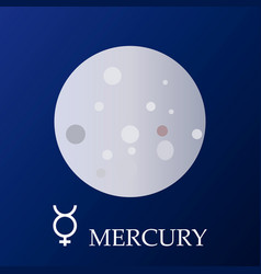Planet mercury in flat style vector