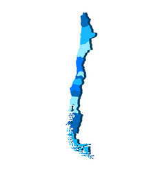 Political map of chile vector
