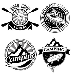 river camp vector image