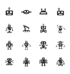 Robots icon set vector