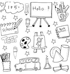 School doodles set hand draw vector