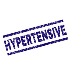 Scratched textured hypertensive stamp seal vector
