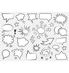 set of speech bubbles set of blank template vector image