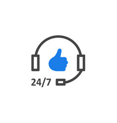 Simple hotline support icon like good service vector