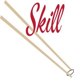 Skill vector image