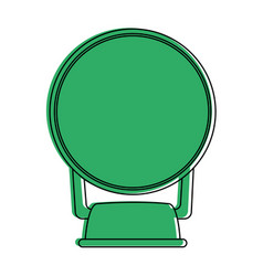 small mirror icon image vector image