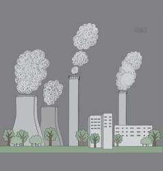 smokestack on white background of vector image